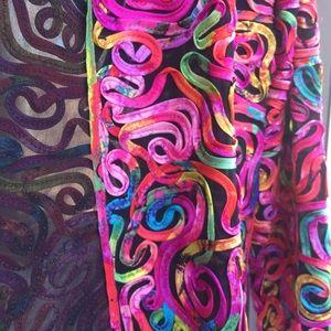 Chico's Jackets & Coats - ‼️FINAL PRICE‼️CHICO'S Colorful Ribbon Silk Jacket